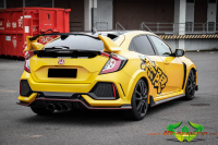 Honda Civic Type R - Dark Yellow - Glanz Schwarz
