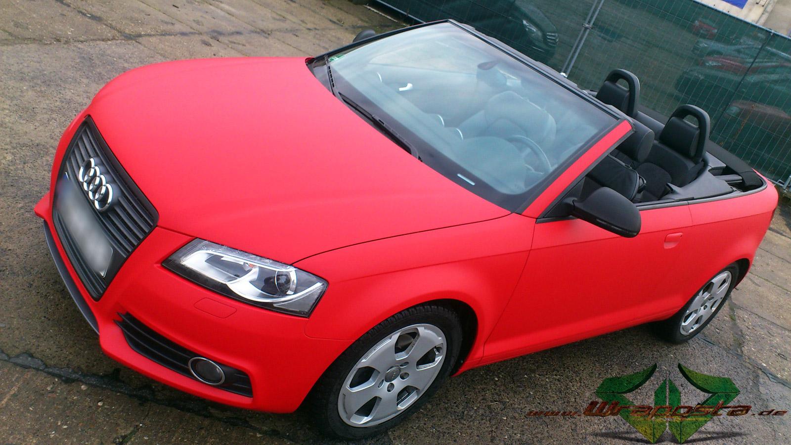 Audi A3 S Line F1 Racing Red 3d Carbon Matt Schwarz