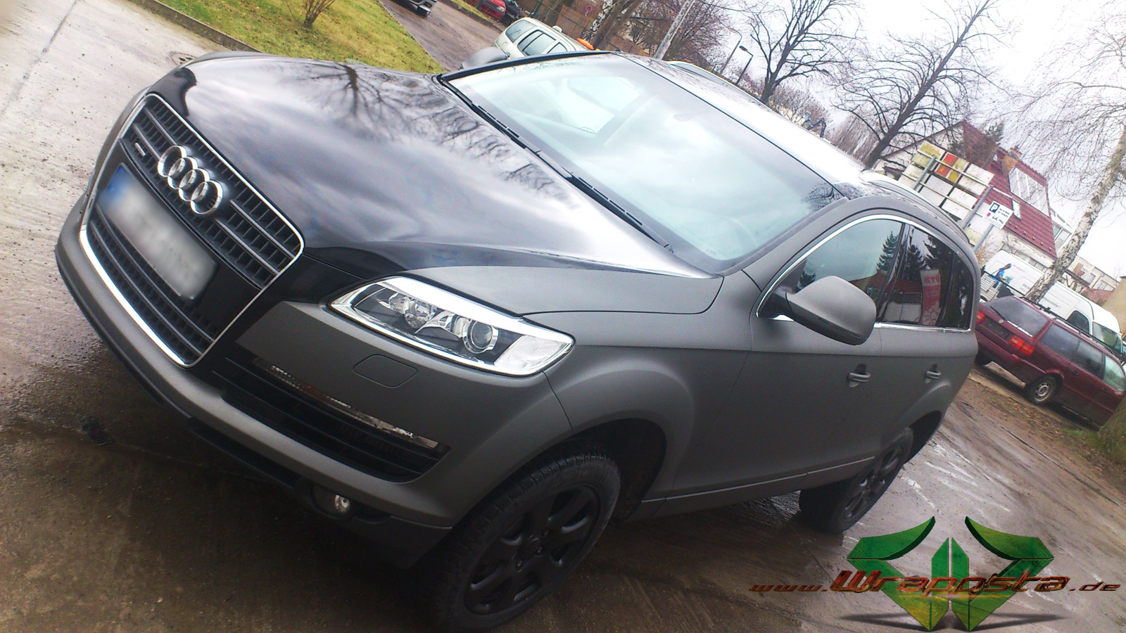 Audi Q7 >> Audi Q7 - Ultra Matt Anthrazit metallic & glanz Schwarz - Wrappsta Berlin