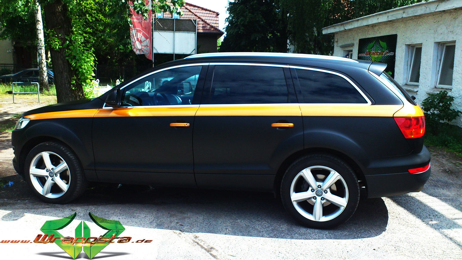 Audi Q7 Matt Schwarz Amp Gold Orange Pearlescent