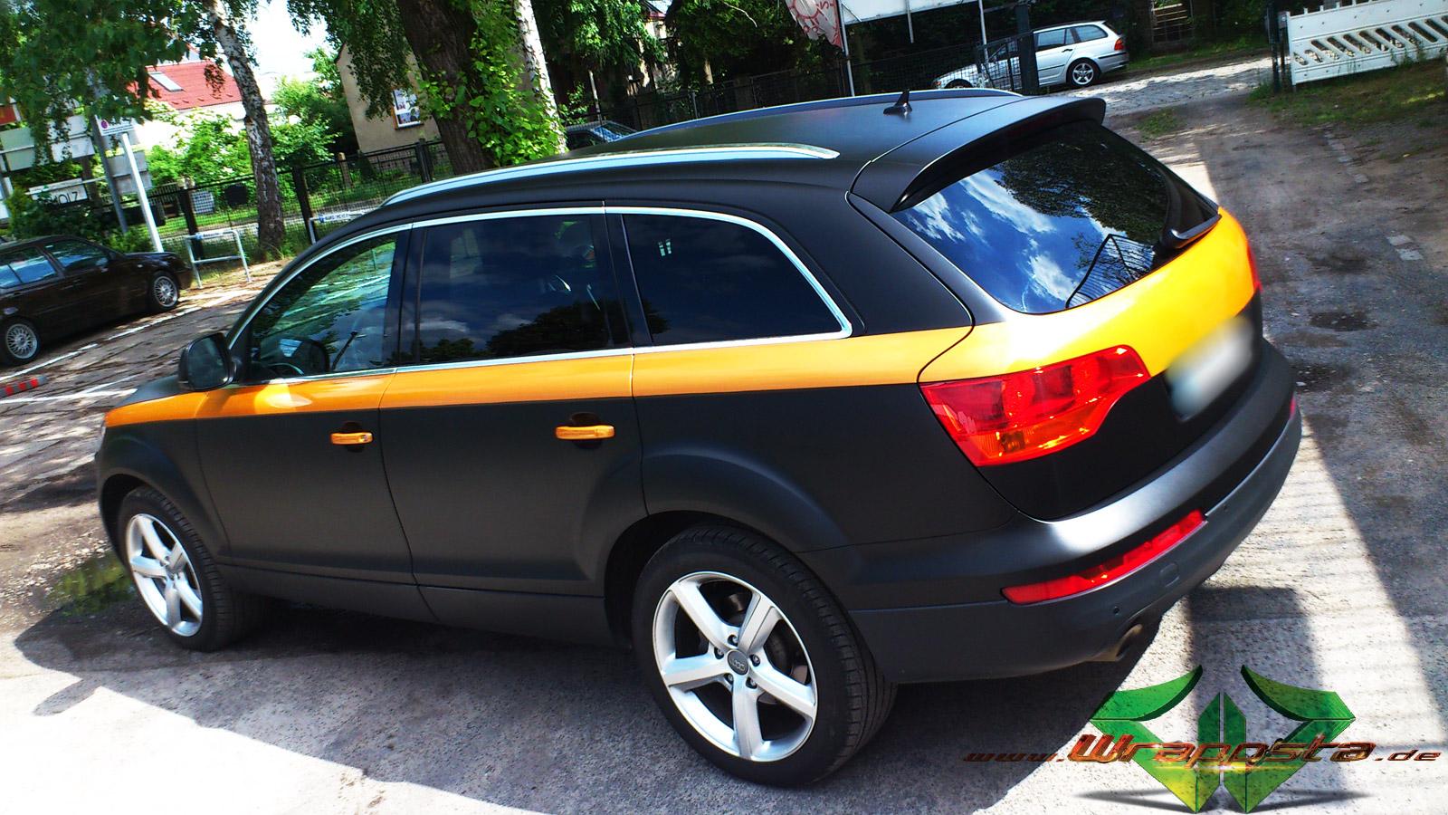 Audi Q7 Matt Schwarz Amp Gold Orange Pearlescent