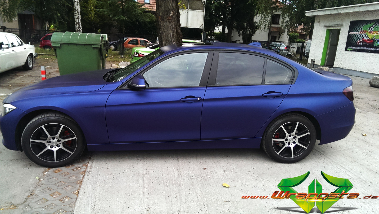 Bmw 3 Night Blue Matte Metallic Wrappsta Berlin
