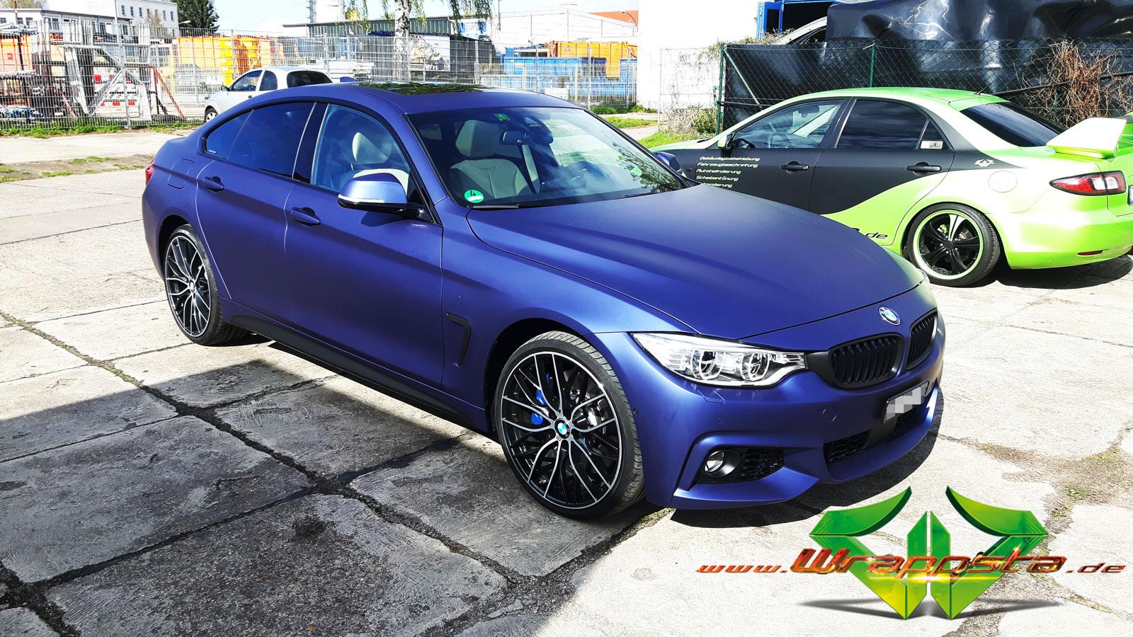 Bmw 435 Grand Coupe Matte Metallic Night Blue Wrappsta