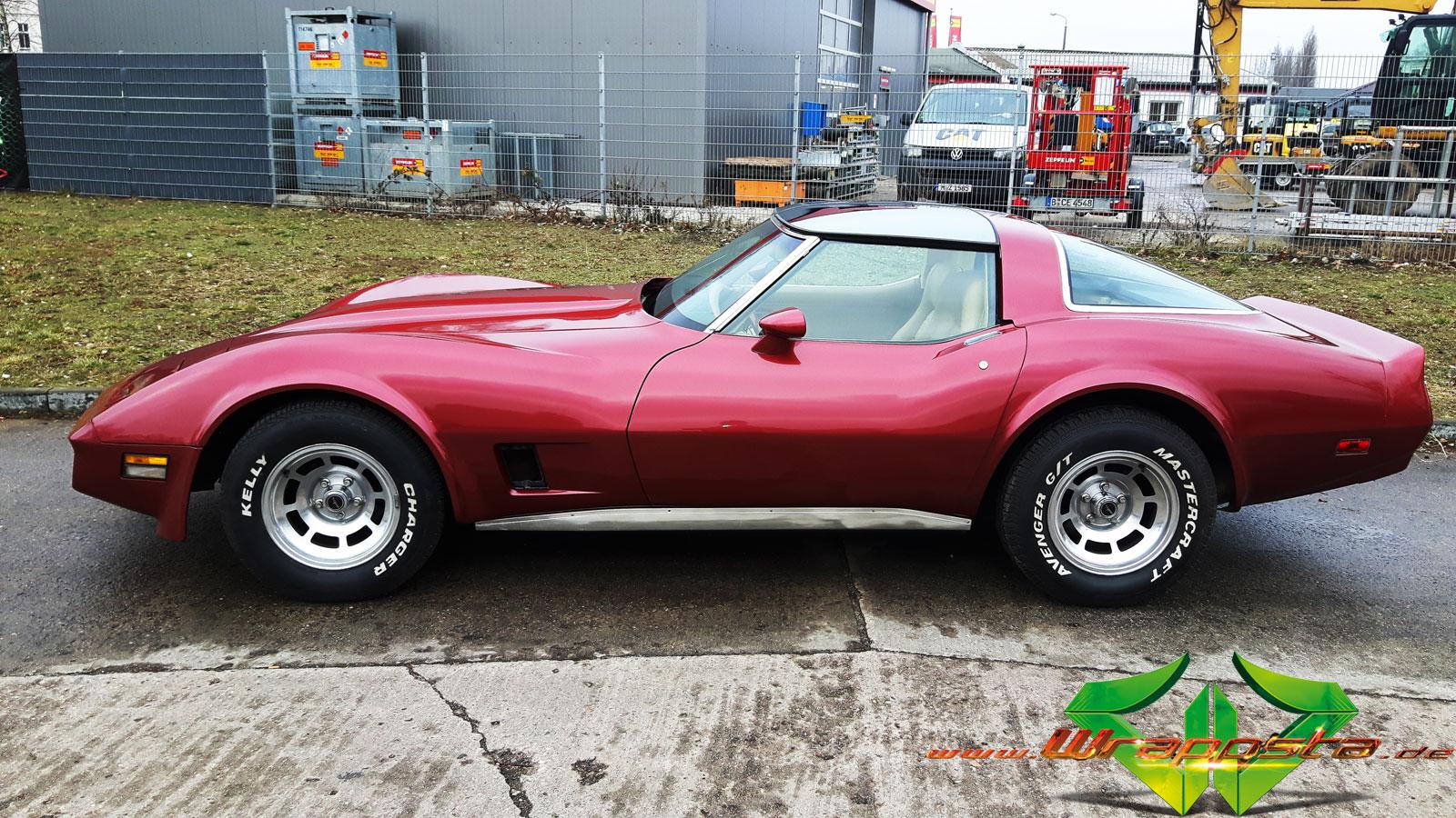 Corvette C3 Stingray - Dark Red Metallic - Wrappsta Berlin