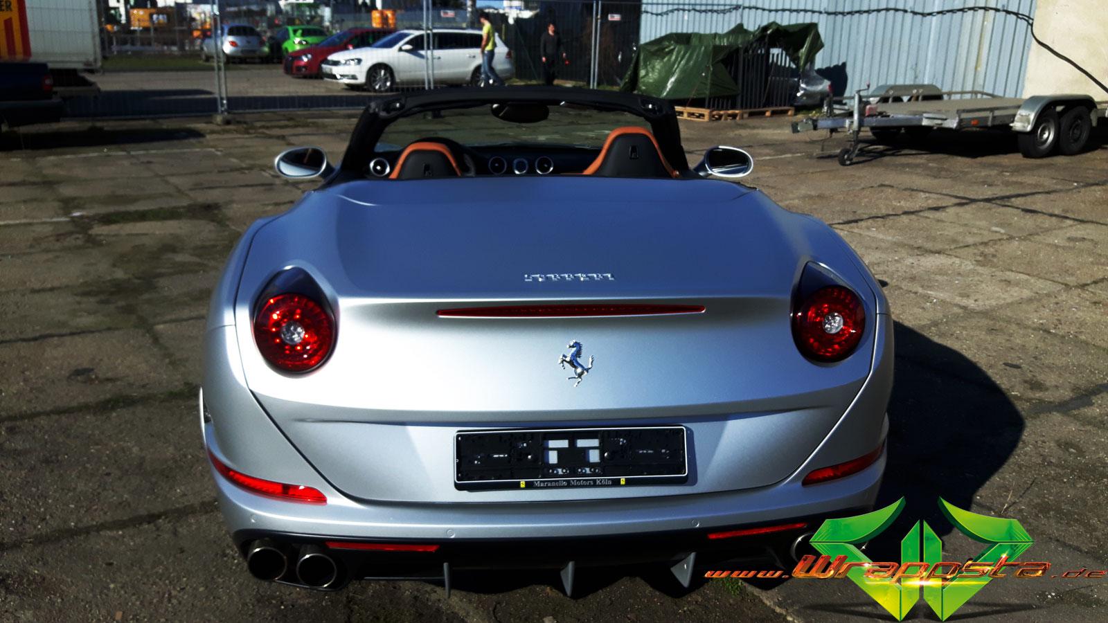 Ferrari California 2016 Matte Silber Wrappsta Berlin