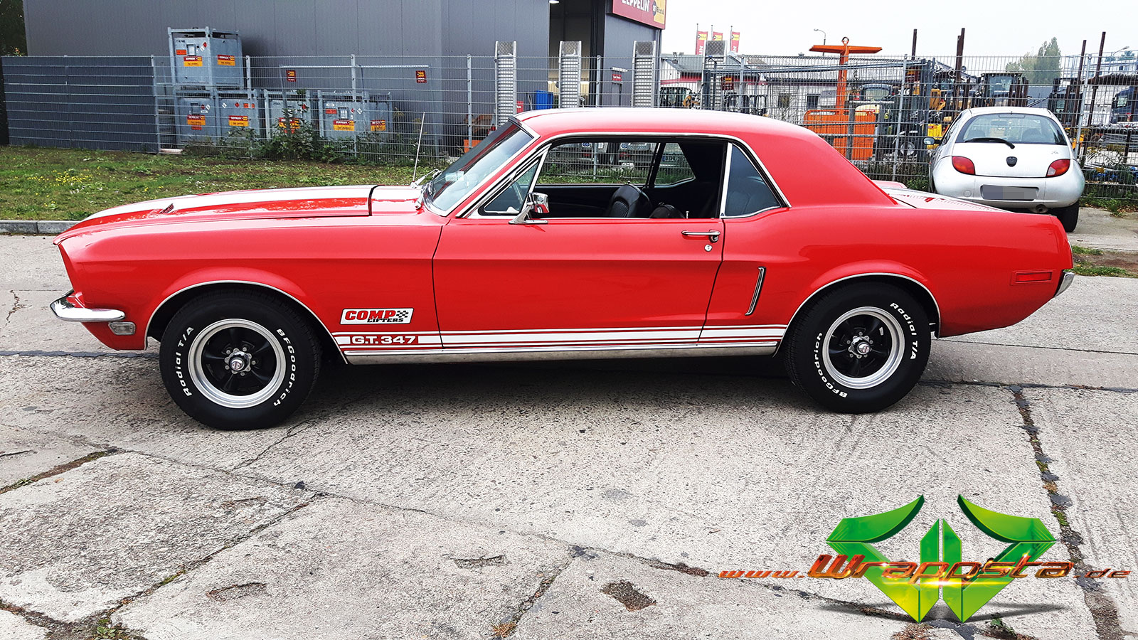 ford mustang glanz weiss wrappsta berlin. Black Bedroom Furniture Sets. Home Design Ideas