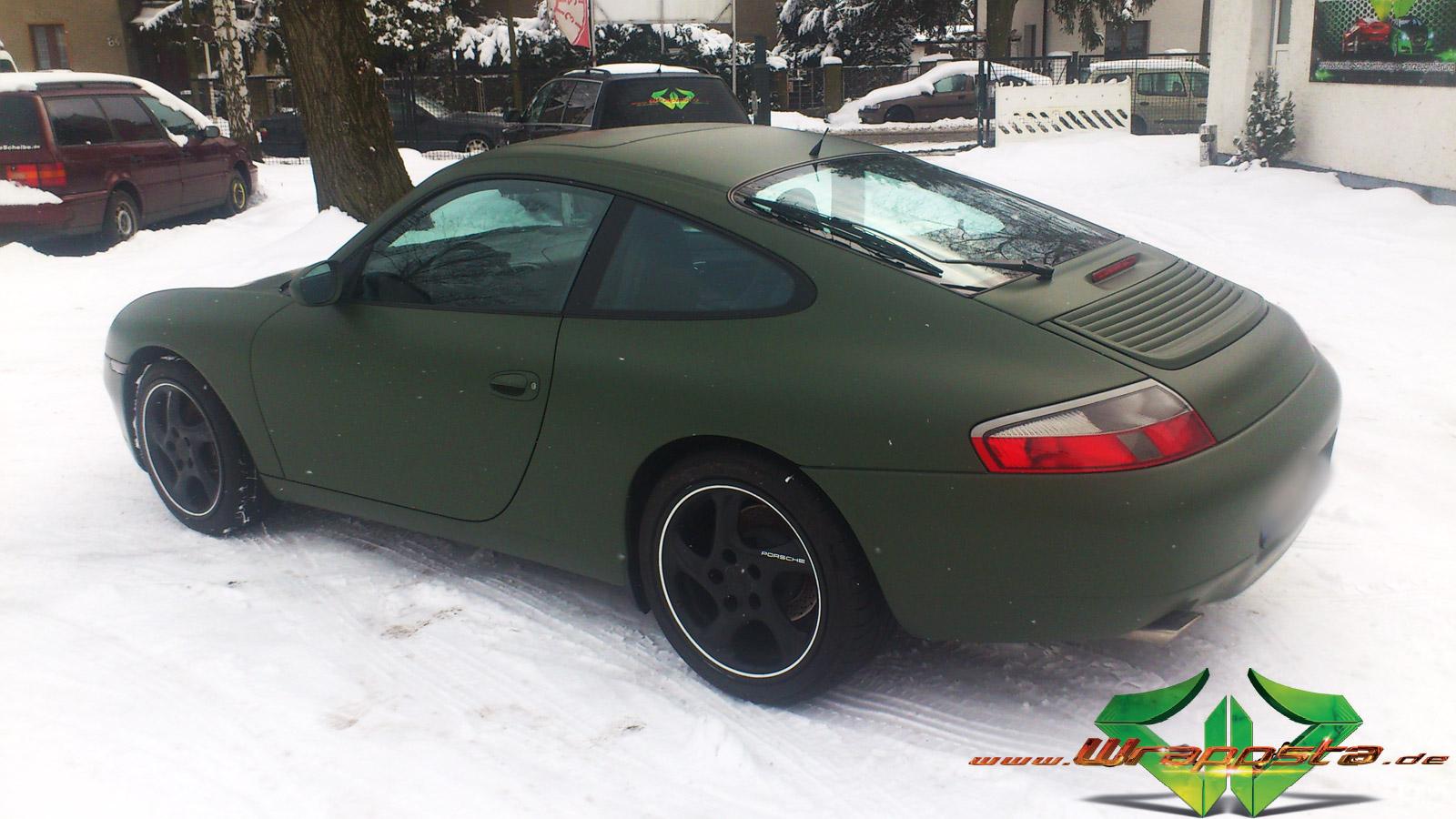 Porsche Carrera - Nato Matt Olive - Wrappsta Berlin