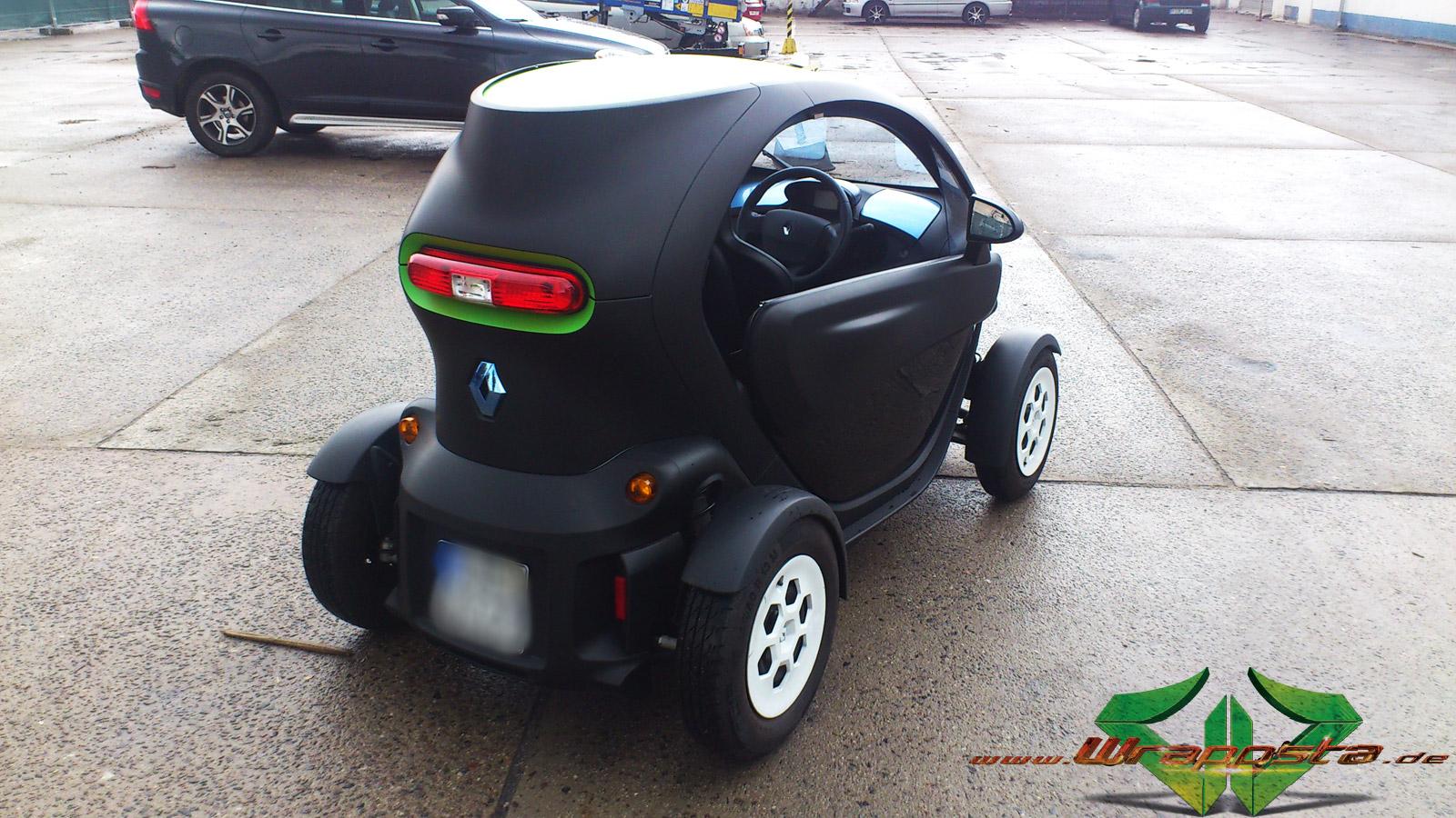 Renault Twizy Matt Schwarz Gr 252 N 3d Carbon Wrappsta