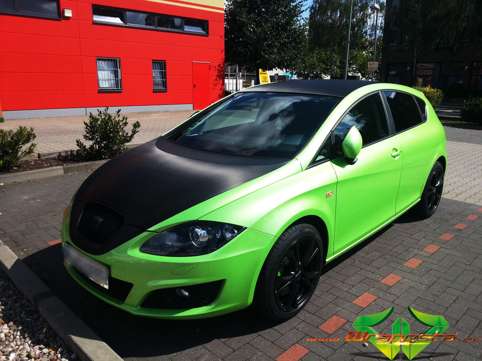 seat leon light green pearlescent 3d carbon scheibent nung wrappsta berlin. Black Bedroom Furniture Sets. Home Design Ideas